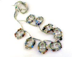 RecyclingAluminium Pull Tab Collier mit Perlen von StellaStory