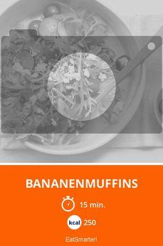 Bananenmuffins - smarter - Kalorien: 250 Kcal - Zeit: 15 Min. | eatsmarter.de