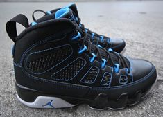 ceffa675b2f0 302370 007 Young Air Jordan IX Boys Shoe Photo Blue Black White