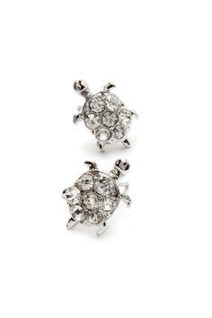 Crystal Turtle Earrings on Emma Stine Limited
