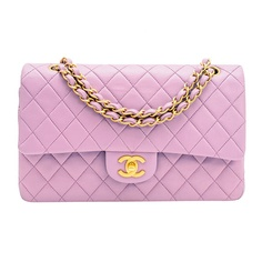 Chanel Purple Large 2.55 Classic Lambskin Double Flap Handbag GH. Purple love ^^