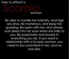 Sex with a scorpio woman