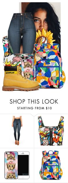 """Untitled #44"" by princess-kpop-lover190 ❤ liked on Polyvore featuring WearAll, Vera Bradley and Caterpillar"