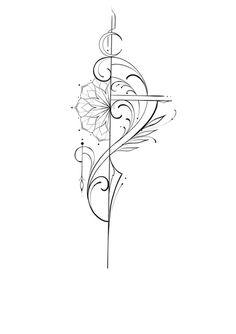 "Alessandro ""Pikeno"": O Fineline Ornamental do artista - Blog Tattoo2me Phenix Tattoo, Backpiece Tattoo, Sternum Tattoo, Mandala Tattoo, Boho Tattoos, Mini Tattoos, Unique Tattoos, Body Art Tattoos, Small Tattoos"