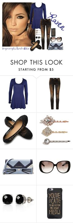 """""""Raven -- Impromptu Lunch Date (9/21)"""" by cfarron ❤ liked on Polyvore featuring Mesop, Rich & Royal, Ollio, GUESS, Karl Lagerfeld, Gucci and Belk & Co."""