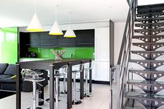Staircaises escaliers on pinterest steel stairs stairs and modern staircase - Escalier a limon central ...