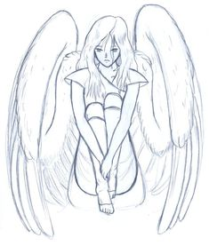 manga drawing sad angel - Google zoeken