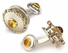 Carouselling cufflinks | Eva Martin Jewelry: Eva is an amazing jeweler!!! So impressed by her work and creativity.