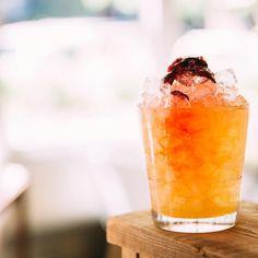 """Solid as Arrack"" (made with El Dorado 12-year rum, Batavia Arrack, lemon, bing cherry Cordial and crushed ice.)"