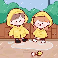 Cute Pastel Wallpaper, Cute Emoji Wallpaper, Cute Cartoon Wallpapers, Walpapers Cute, Cute Art, Simple Doodles, Cute Doodles, Cute Couple Art, Cute Chibi