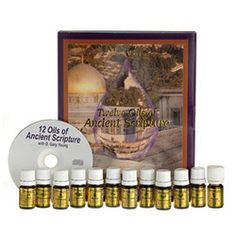 The 12 Oils of Ancient Scripture™ Kit contains the 12 most significant oils found in the Bible for you to savour & enjoy the beautiful fragrances & intriguing histories of these precious pure essential oils. Includes a 12 Oils of Ancient Scripture CD. Contains: 12 Single Oils (5ml bottles): Aloes/sandalwood, cassia, cedarwood, cypress, frankincense, galbanum, hyssop, myrrh, myrtle, onycha, Rose of Sharon/cistus, spikenard.