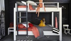 Модная двухъярусная кровать для детской комнаты
