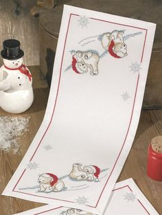 Polar Bear Runner Cross Stitch Kit: Cross stitch (Permin, 63-5642)