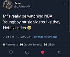 Watch Nba, Best Rapper Alive, Funny True Quotes, Netflix Series, Tweet Quotes, Music Videos