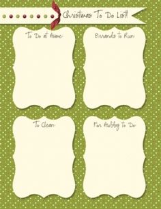 Aly Stamps' Christmas To Do List from Christmas planner.com