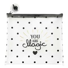 Medium Zip You Are Magic Multi Purpose Cosmetic Bag ($23) ❤ liked on Polyvore featuring beauty products, beauty accessories, bags & cases, travel kit, wash bag, make up bag, purse makeup bag and cosmetic purse