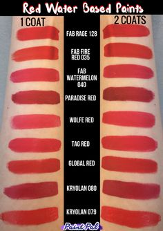 Red Water Based Face Paint Comparsion of different brands by Paint Pal Face Painting Images, Face Painting Tips, Face Painting Designs, Painting Patterns, Paint Designs, Body Painting, Face Painting Supplies, Paint Supplies, Mime Face Paint