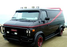 Famous Vehicles From Television list.A-Team A Team Van, Gmc Vans, Van For Sale, Cool Vans, Us Cars, Custom Vans, The A Team, Motor Car, Cars And Motorcycles