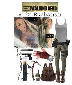 "Alexandra ""Alix"" Buchanan (The Walking Dead OC) Zombie Apocalypse Outfit, Apocalypse Fashion, Cute Casual Outfits, Pretty Outfits, The Walking Dead Poster, Mafia Outfit, Runners Outfit, Apocalyptic Clothing, Bad Girl Outfits"