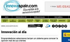 Emprendedores valencianos lanzan un sistema para conocer la opinión real de sus clientes http://innovaspain.sharedby.co/q79gpH