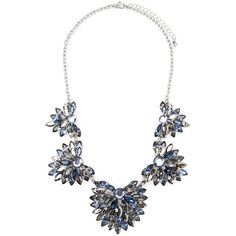 Forever 21 Rhinestone Flower Statement Necklace ($23) ❤ liked on Polyvore featuring jewelry, necklaces, flower necklace, flower chain necklace, floral necklace, fake jewelry and rhinestone necklace