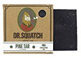 Dr. Squatch Pine Tar Soap  Mens Bar with Natural Woodsy Scent and Skin Scrub Exfoliation  Handmade with Pine Hemp Olive Oils in USA