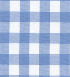 """Gingham Fabric Blue - 1"""" 