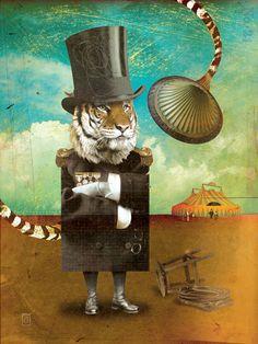 Circus-Circus: Trainer :: © David Vogin Illustration