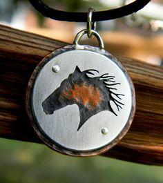 Wild Horse two-tone Pendant