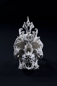Porcelain Skulls by Katsuyo Aoki