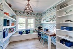 A fresh take on the modern farmhouse trend, this dream home in Richmond, Virginia by River City Custom Homes is part of the 2017 Richmond Homearama currently going on now! The beautiful interiors w… Stairs Master, Attic Stairs, White Shiplap Wall, House Of Turquoise, Flex Room, Kitchen Family Rooms, Ship Lap Walls, Loft Style, Large Bedroom
