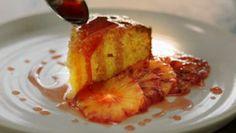 Jamie Oliver gluten free almond, blood orange and polenta cake recipe on Jamie's Quick & Easy Food