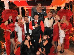 Roaring 20's party complete with all Casino style games provided by A Hot Party