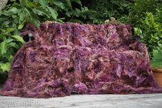 Lammfell Felldecke violett-braun