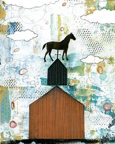 #horse #art #print #collage