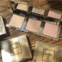 jouer powder highlighters. obsessed with rose quartz