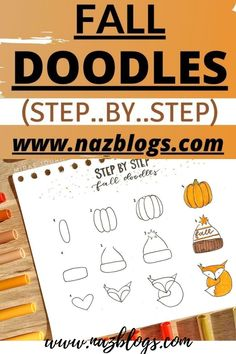 Learn How to draw fall doodles step by step, easy and fun doodles for your bullet journal. Learn easy bullet journal step by step ideas from this post. #falldoodlesstepbystep #bulletjournalstepbystep #autumndoodles #bulletjournalideas