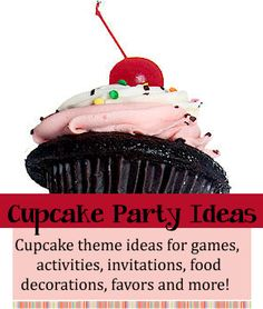 Cupcake Birthday Theme | Birthday Party Ideas for Kids / Cupcake theme ideas for birthday party games, activities, decorations, invitations, favors, food and more. http://www.birthdaypartyideas4kids.com/cupcake-birthday-theme.htm