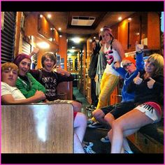 on their tour bus