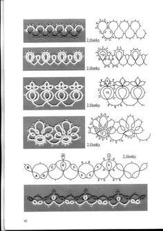 from Tatting lace Tatting lace Pins you might like - Poczta Tatting Bracelet, Tatting Earrings, Tatting Jewelry, Tatting Lace, Shuttle Tatting Patterns, Needle Tatting Patterns, Lace Patterns, Crochet Patterns, Needle Tatting Tutorial