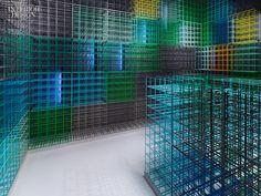 Furch Gestaltung + Produktion reinvents the bottle rack at Weinhandlung Kreis in Stuttgart, Germany.