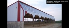 36'x180'x12' Cleary Dairy & Livestock Building in Winslow, IL | Colors: Snow, Cardinal,