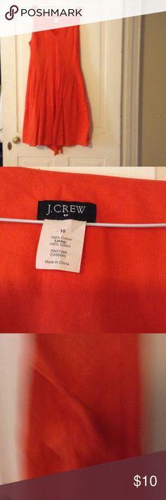 J Crew Dress V Neck high waist tie back J. Crew Dresses Midi