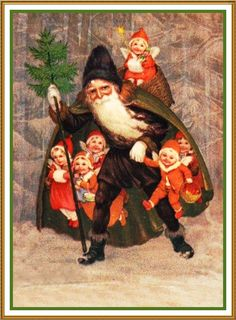 Father Christmas Santa Claus 88 Holiday Counted Cross Stitch or Counted Needlepoint Pattern