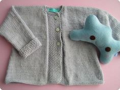 Madison Avenue Baby Craft & Decorate: Jikke's Handmade Knitted Cardigan