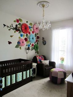 3D flower wall - http://www.homedecoratings.net/3d-flower-wall