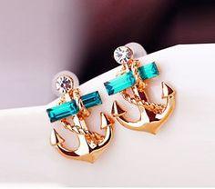 Anchor temptation earrings