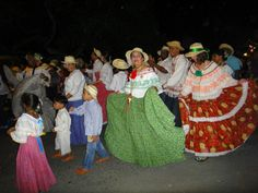 """Carnaval in Panama! The """"pollera"""", the national dress of Panama is seen on everyone young and old!"""