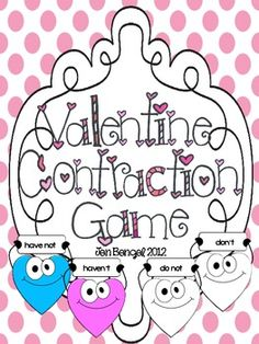 Just posted!  This is a super cute contraction matching game printable in color and black & white.  It also includes a student answer sheet with challenge questions for those students who finish early.  According to the Common Core, students should understand contractions by second grade.  Your students will love this cute and fun way to learn contractions!