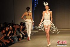 3ders.org - Chinese students 3D prints three gorgeous bone structure dresses inspired by Greek mythology | 3D Printer News & 3D Printing News